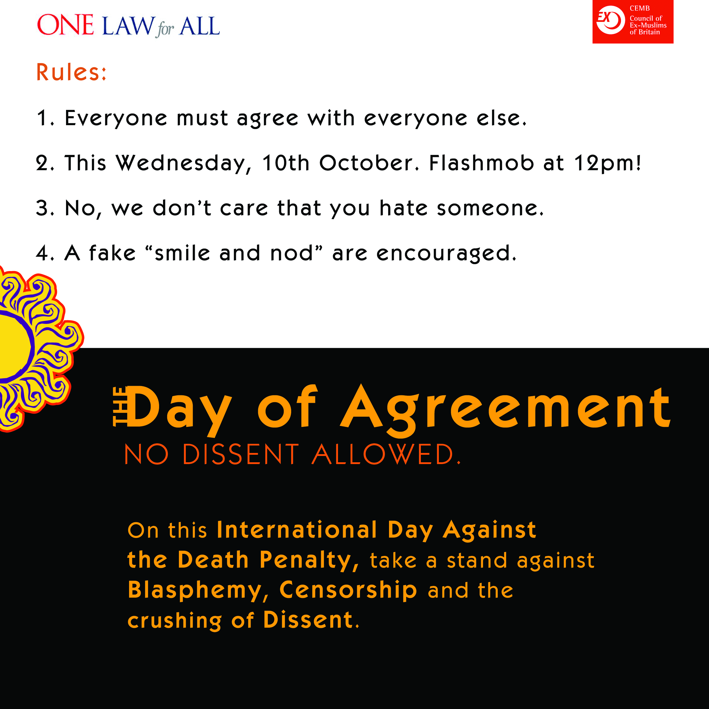 10 October 2012: Day of Agreement
