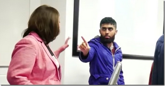 Muslim students disrupt, heckle human rights speaker, accuse her of 'violating their safe space', The College Fix, 3 December 2015