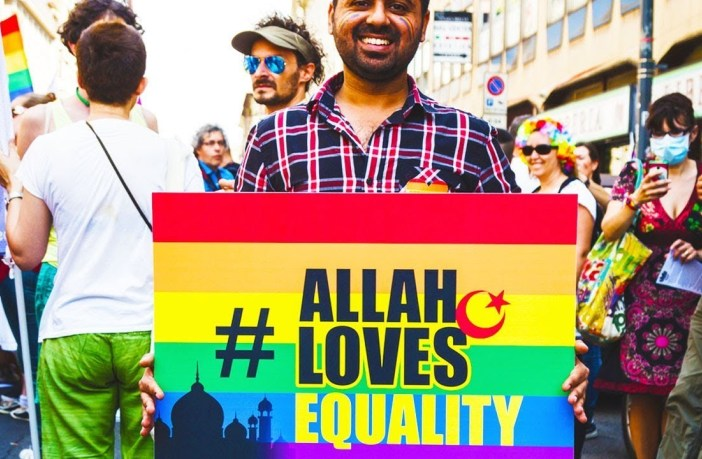 Allah loves equality placard