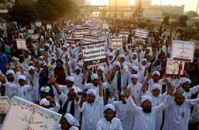 Photo of Aasia Bibi protest Source: Shakil Adil/AP/REX/Shutterstock