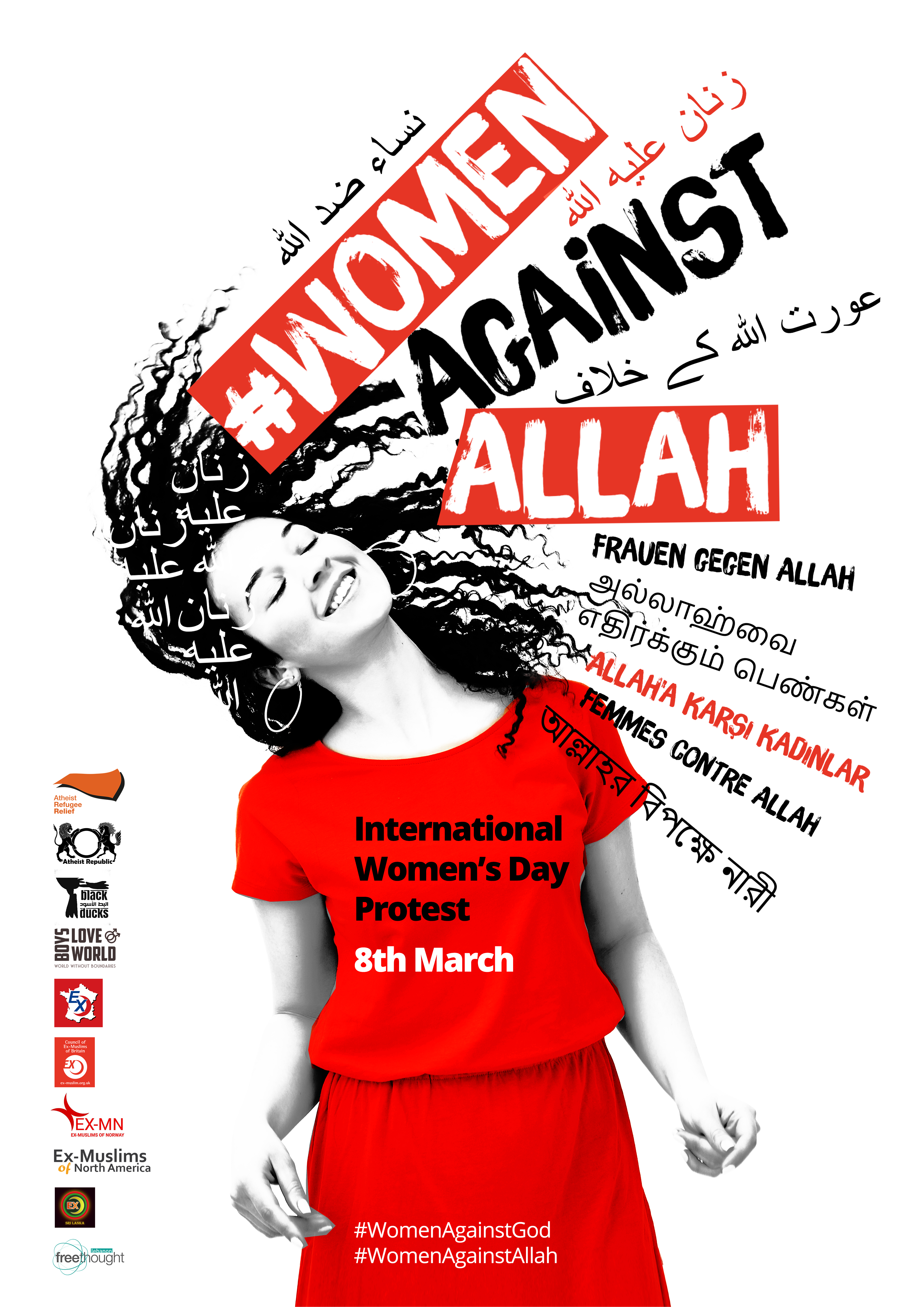 Women Against Allah: 8 March International Women's Day Protest