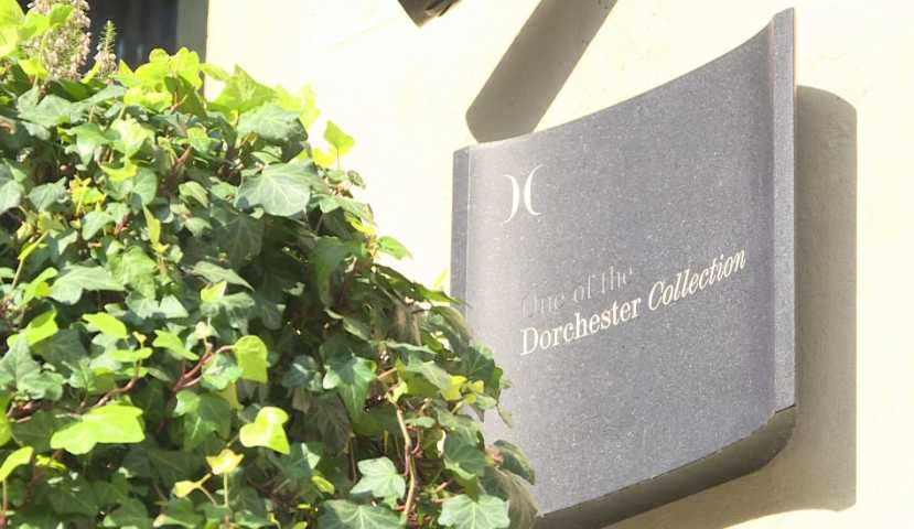 photo of sign saying dorchester collection