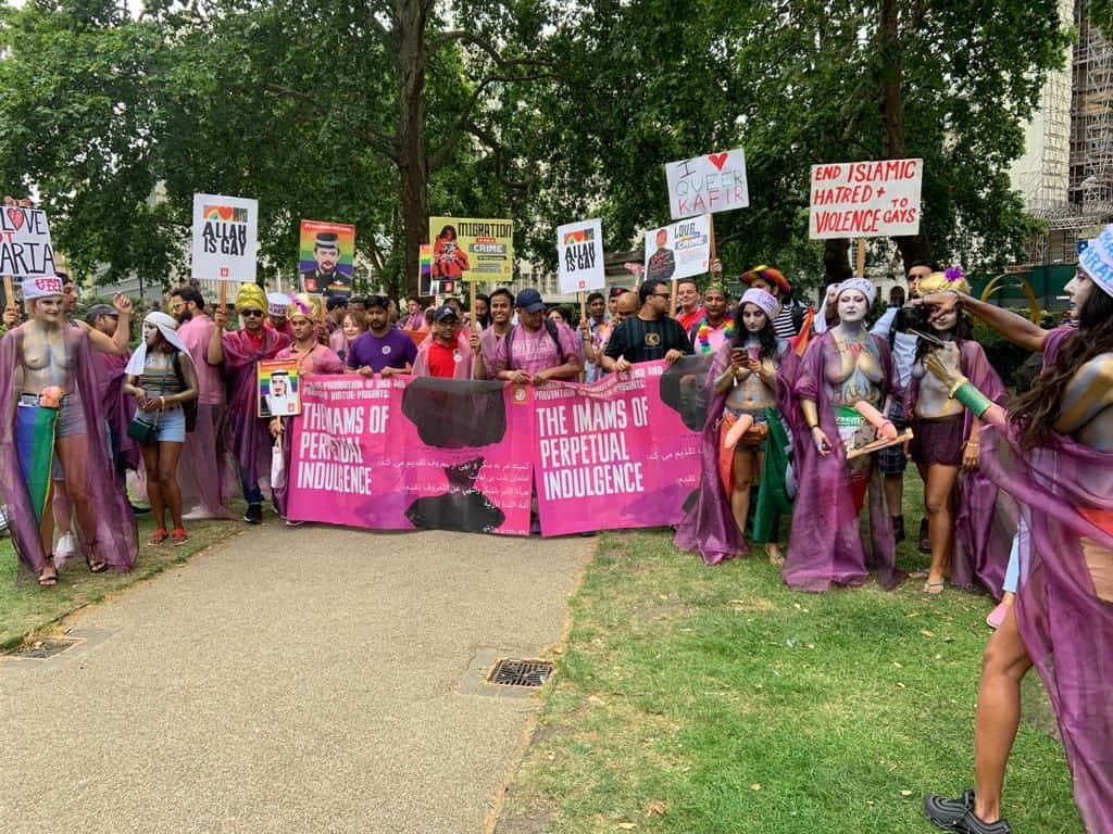 Photo of Imam's of perpetual Indulgence at London Pride 2019