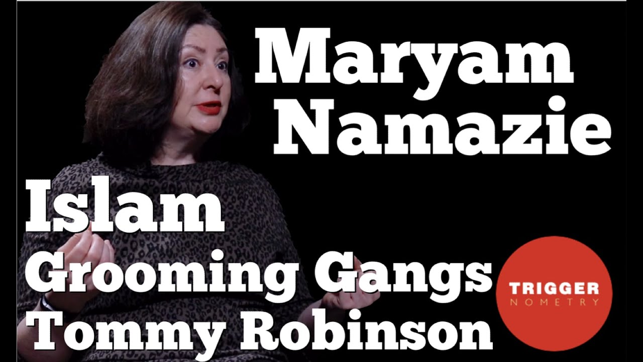 Photo of Maryam Namazie with headline Maryam Namazie Islam Grooming gangs Tommy Robinson