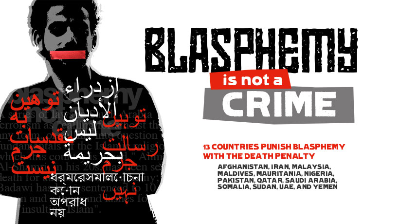 On 30 September, International #BlasphemyDay, #EndBlasphemyLaws #BlasphemyNotACrime