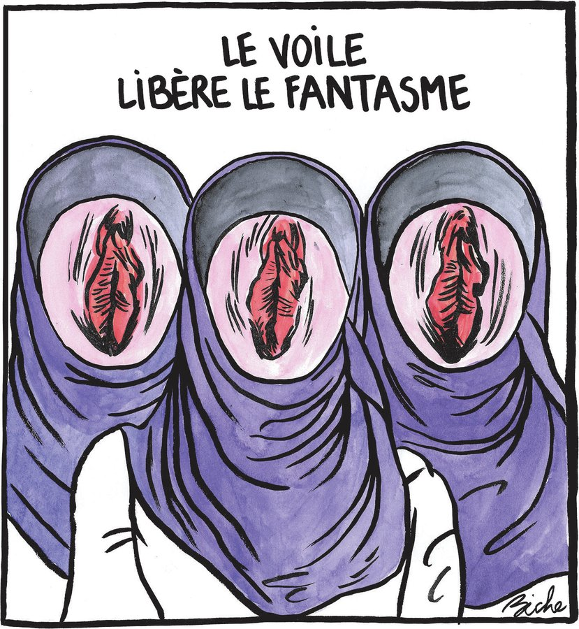 World Hijab Day : une insulte au féminisme, Charlie Hebdo, 1 February 2020