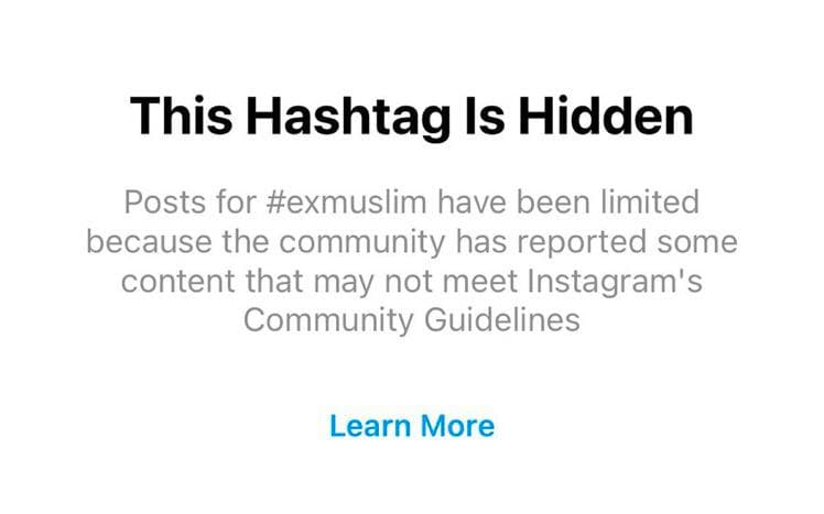 Instagram and its Censorship of Ex-Muslims